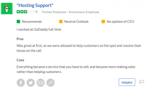 Godaddy Employee Review #3